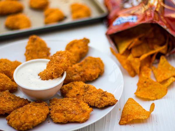 Dorito-Crusted-Chicken-Fingers