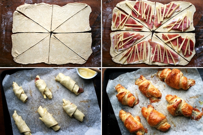 croissants jamon queso_pasos